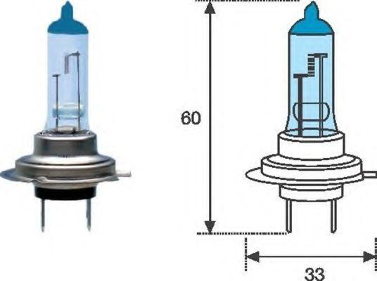 Лампа накаливания, фара дальнего света MAGNETI MARELLI арт. 002603100000