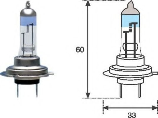 Лампа накаливания, фара дальнего света MAGNETI MARELLI арт.