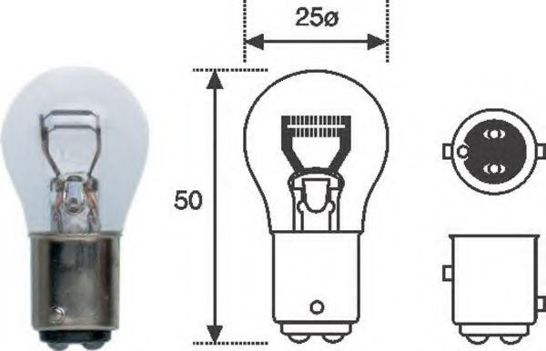 Лампа накаливания, фонарь сигнала торможения MAGNETI MARELLI арт.