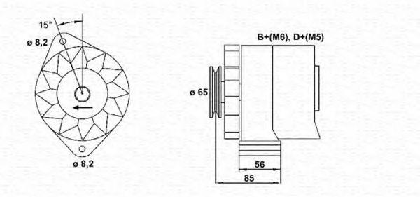 Генератор MAGNETI MARELLI арт. 944356732010