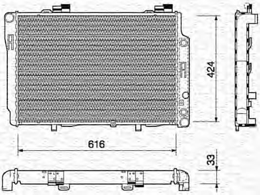 Радиатор, охлаждение двигателя MAGNETI MARELLI арт.